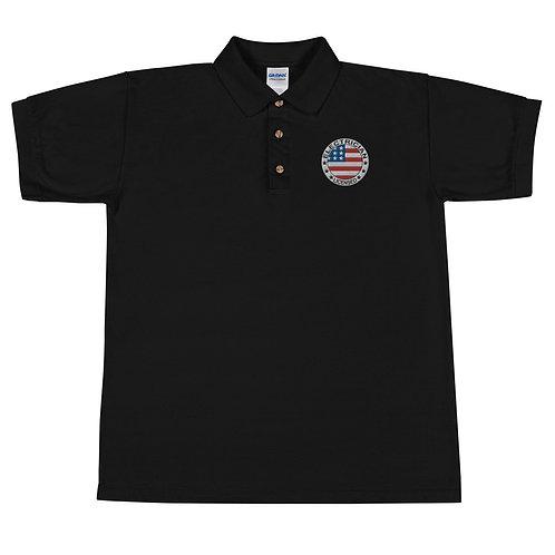 Embroidered Polo Shirt - USA Electrician Pride