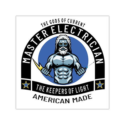 Outdoor Rated Vinyl Stickers | Gods of Current | Master Electrician