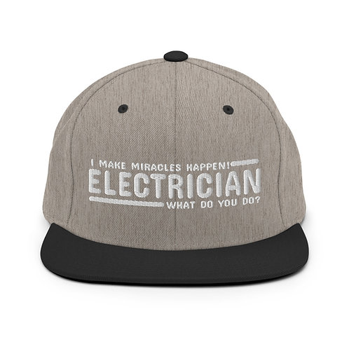 Snapback Hat | Electricians and MIracles