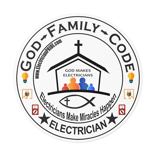 Outdoor Rated Vinyl Stickers   God - Family -Code