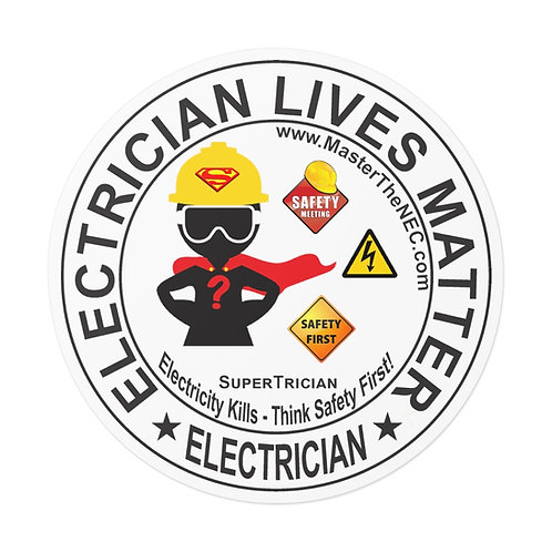 Outdoor Rated Vinyl Stickers | Electricians Lives Matter