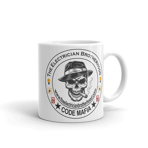 White glossy mug - Code Mafia Skull