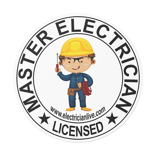 Outdoor Rated Vinyl Stickers | Master Electrician