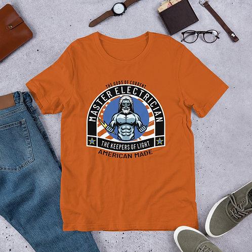 Short-Sleeve Unisex T-Shirt - Gods of Current   Master Electrician