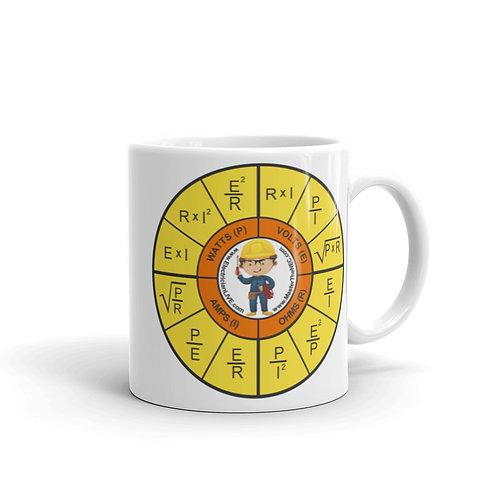 White glossy mug - Ohms Law