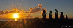 Peaceful Sunset facing Tahai