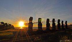 Sunset facing Ahu Akivi