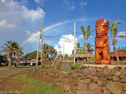 Beautiful Rainbow over the Island