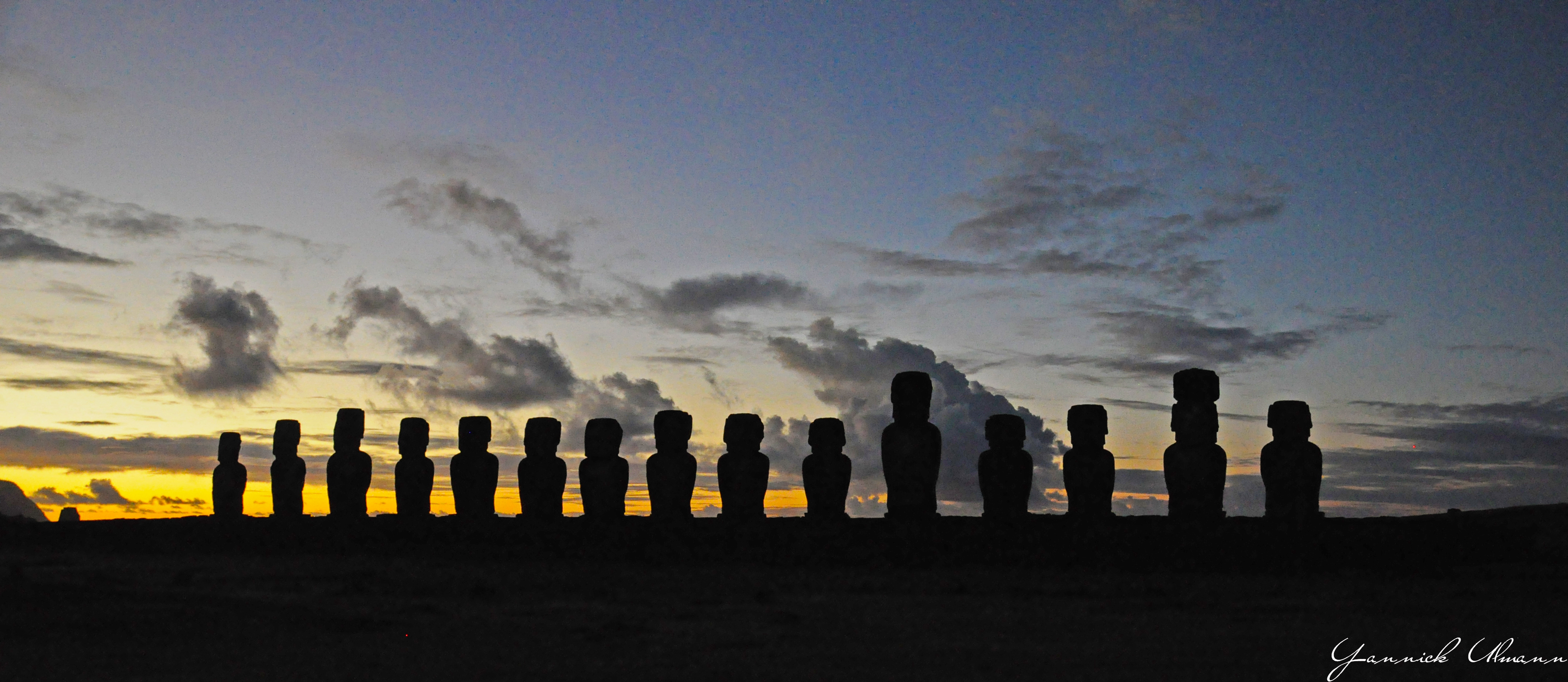 Before Sunrise over Ahu Tongariki