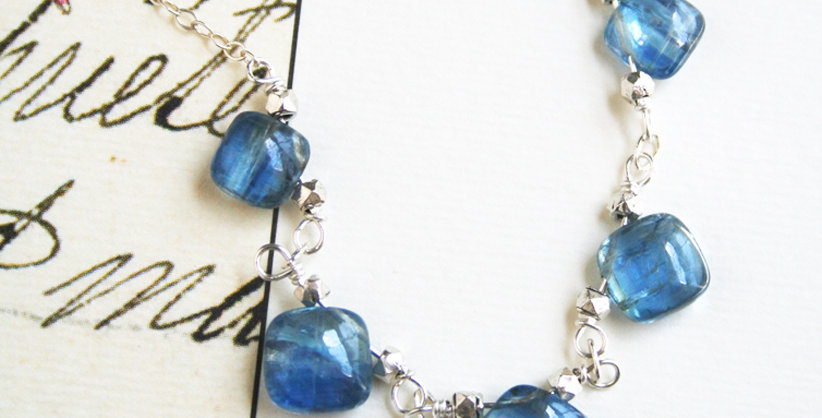 Kyanite Gemstone Necklace | Laura Stark Designs