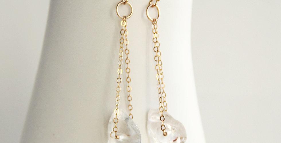 Crystal Chip Earrings