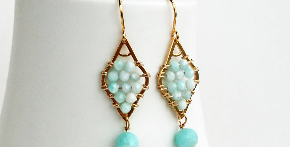 seafoam dangle earrings