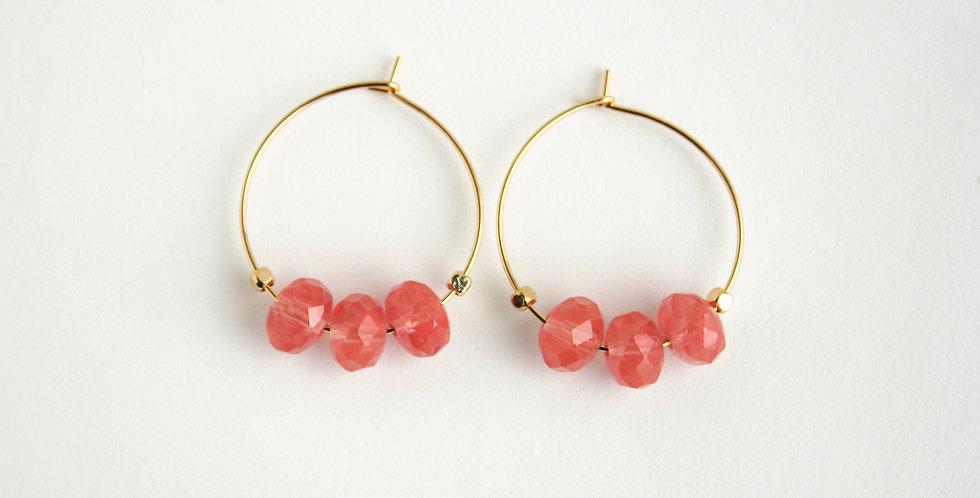 Cherry Chalcedony Earrings