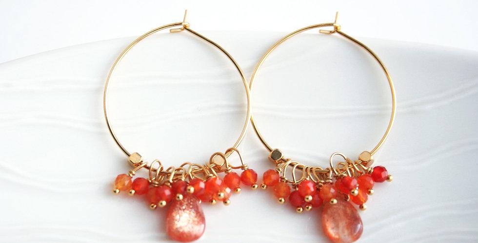 Sunstone Earrings | Laura Stark Designs