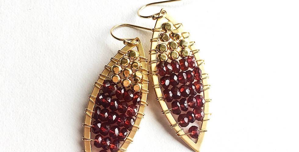 Red Boho Earrings