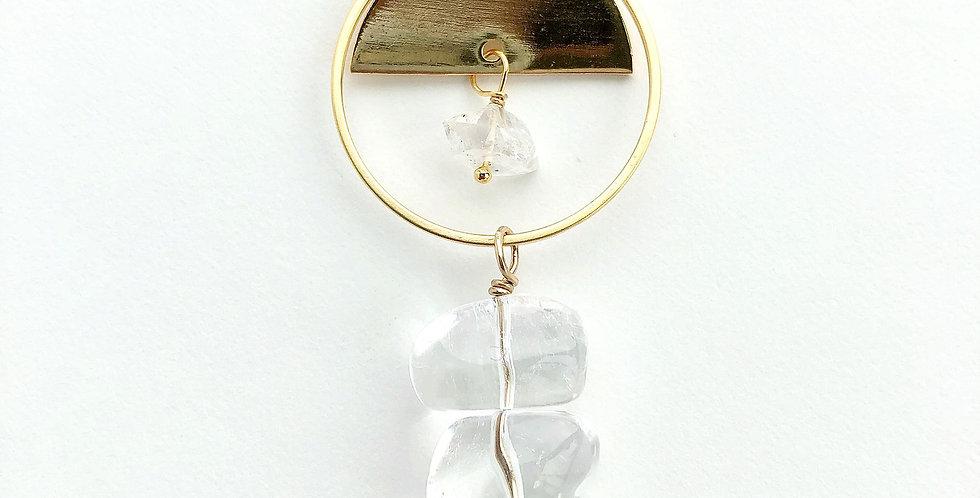 Boho Quartz Drop Necklace