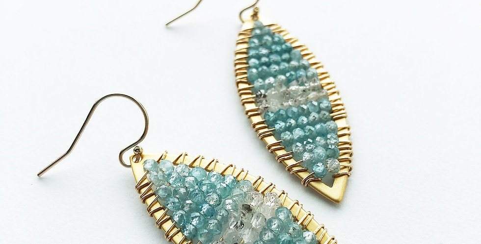 Zircon Marquis Earrings