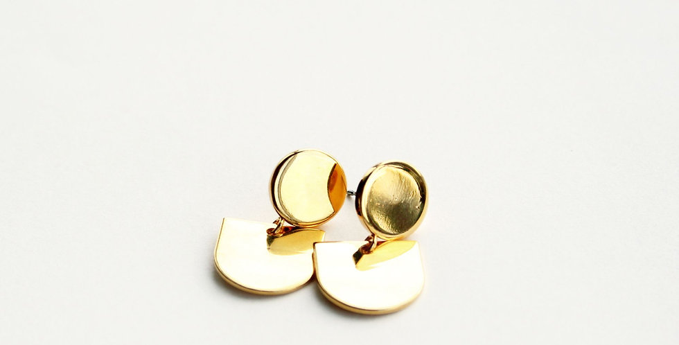 Abstract Post Earring