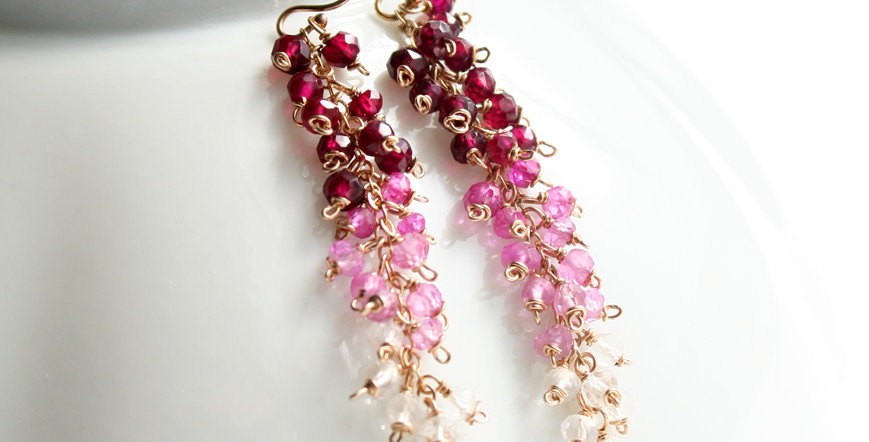 Pink Ombre Earrings | Laura Stark Designs