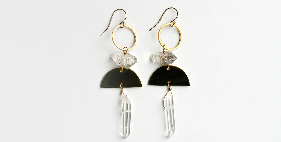 Boho Crystal Earrings