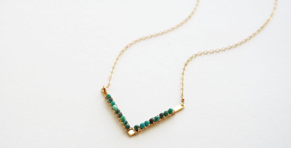 Turquoise Chevron Necklace