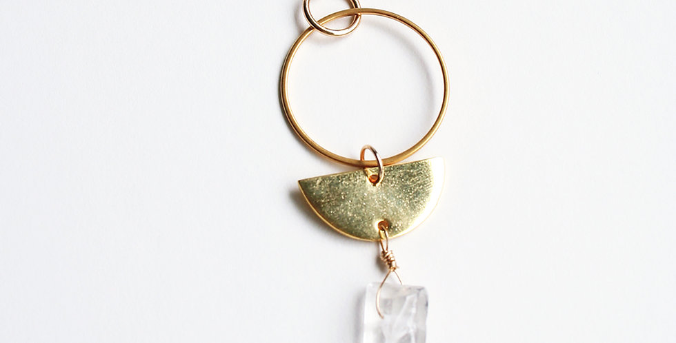 Boho Crystal Necklace