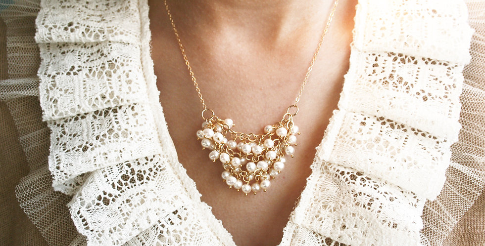 Pearl Bridal Necklace | Laura Stark Designs