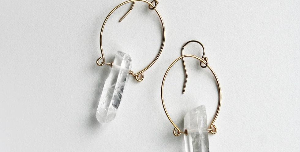Crystal Horseshoe Earrings