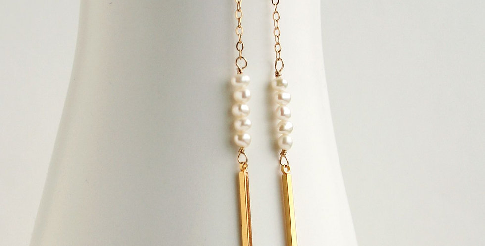 Long Gold Bridal Earrings