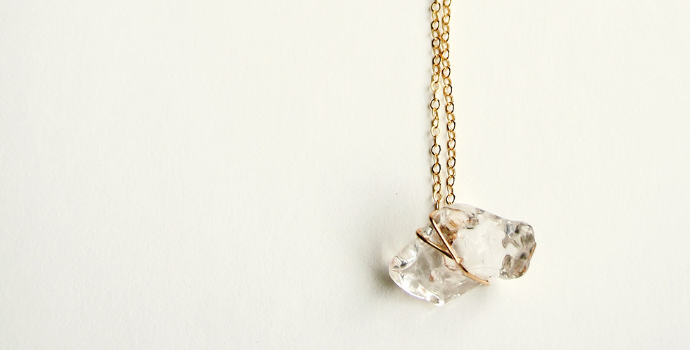 Crystal Chip Wrap Necklace