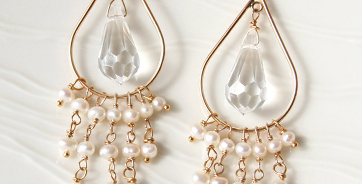 Crystal Chandelier Earrings | Laura Stark Designs