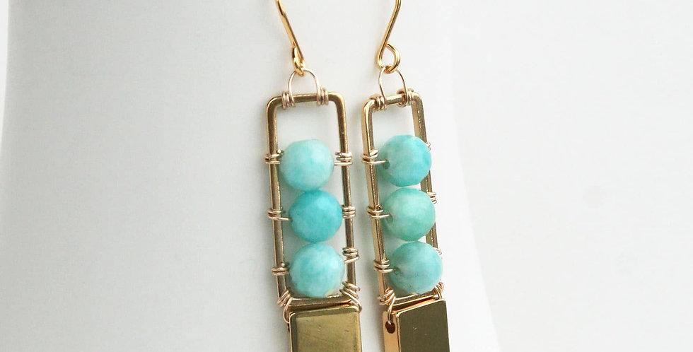 seafoam dangle earrings