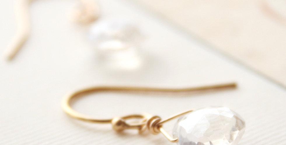 Clear Quartz Drop Earrings
