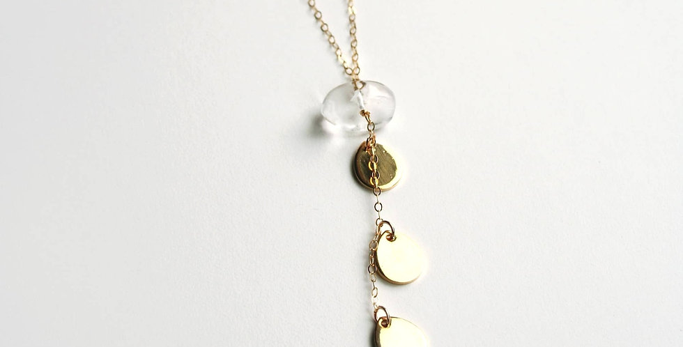 Gold Petal Necklace