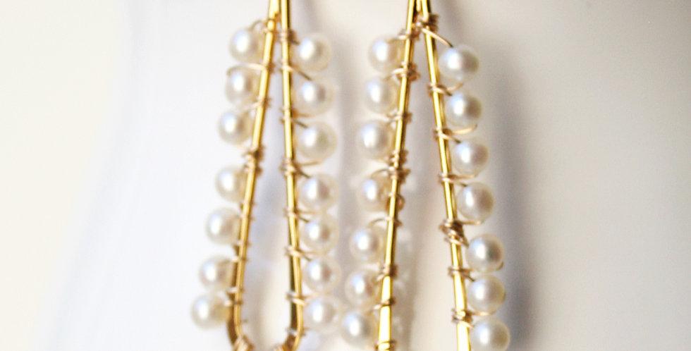 Modern Pearl Earrings | Laura Stark Designs
