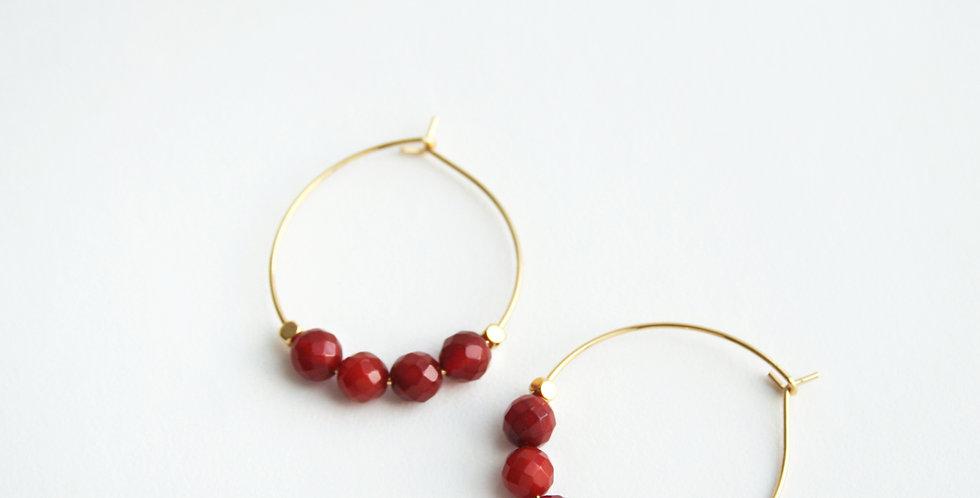 Carnelian Hoop Earrings | Laura Stark Designs