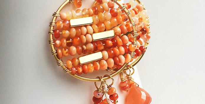 Orange Gemstone Earrings