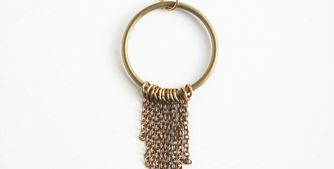 Brass Fringe Necklace | Laura Stark Designs