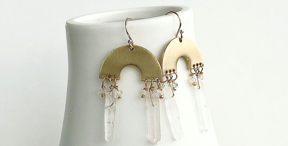 Boho Healing Crystal Earrings