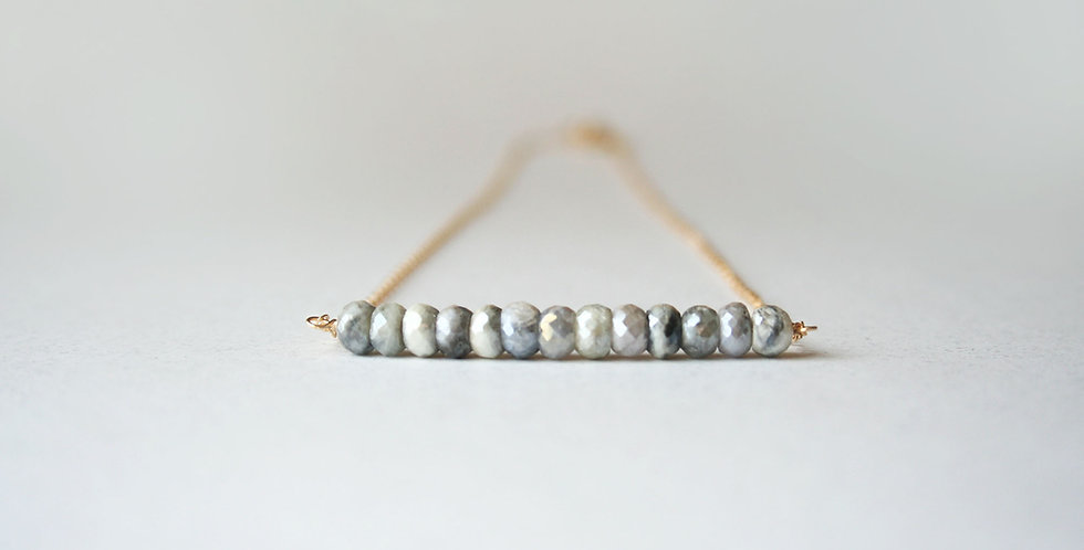 White Sapphire Necklace | Laura Stark Designs