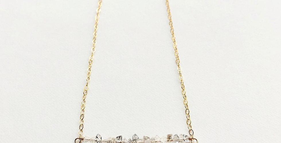 Herkimer Diamond Bar Necklace