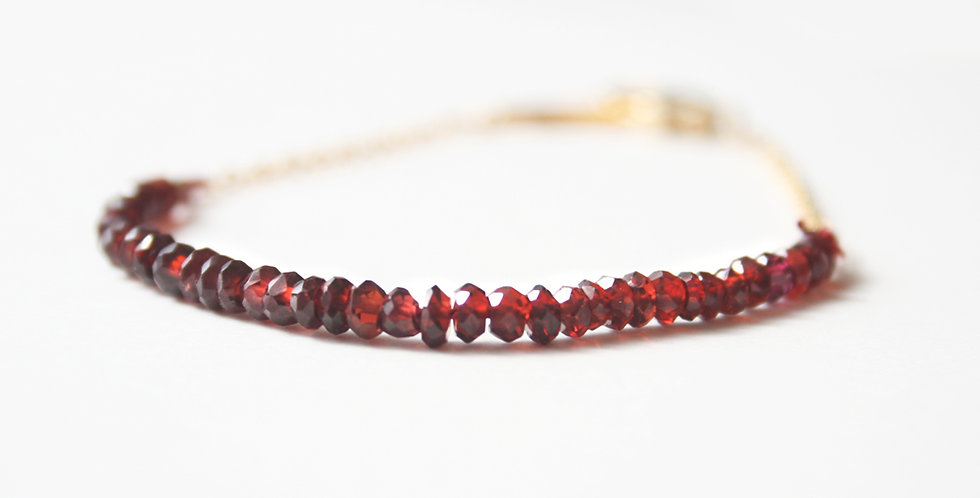 Red Garnet Bracelet | Laura Stark Designs