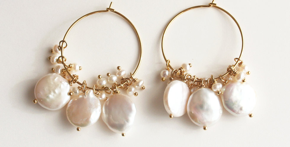 Coin Pearl Earrings | Laura Stark Designs