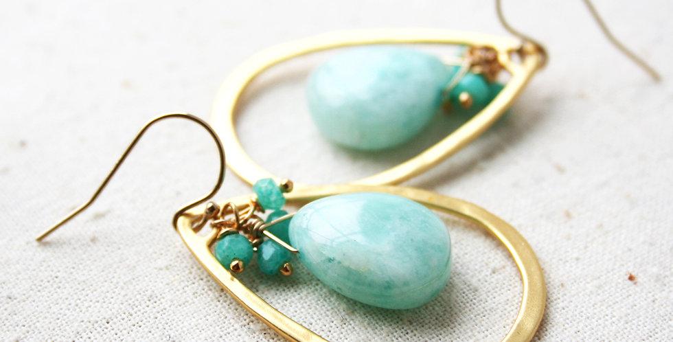 Chalcedony Green Earrings | Laura Stark Designs
