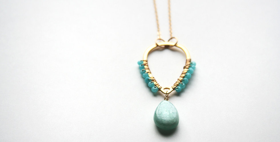 Light Green Gemstone Necklace