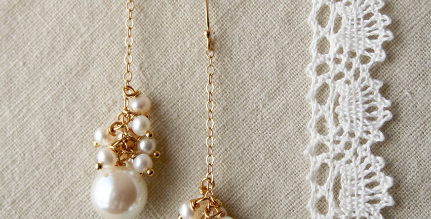 Pearl Drop Earrings | Laura Stark Designs