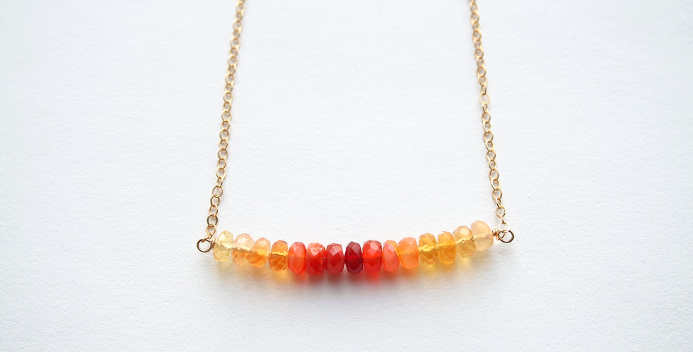 Fire Opal Necklace | Laura Stark Designs