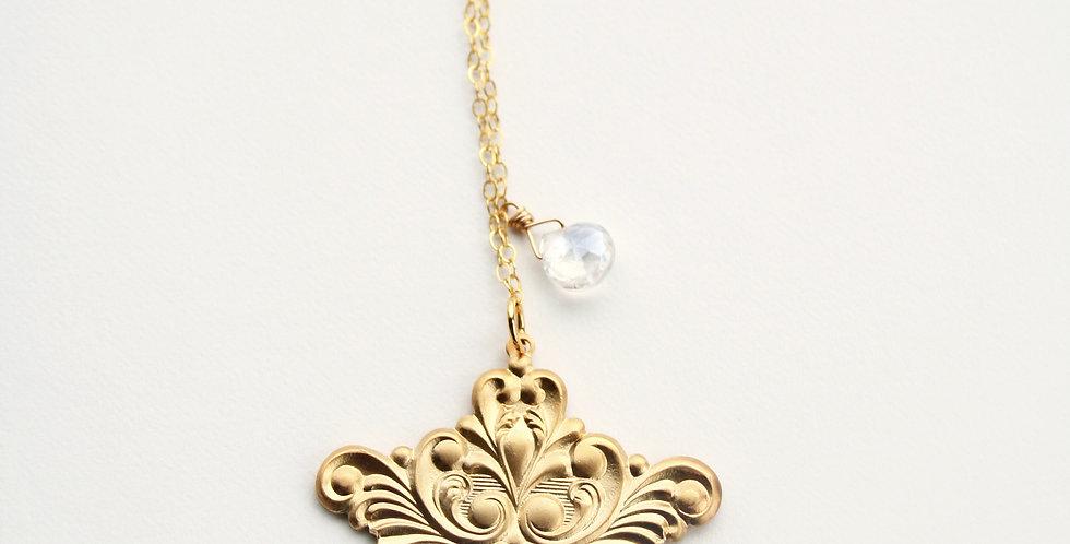 CUSTOM FOR ELAINE - Gold Pendant Necklace