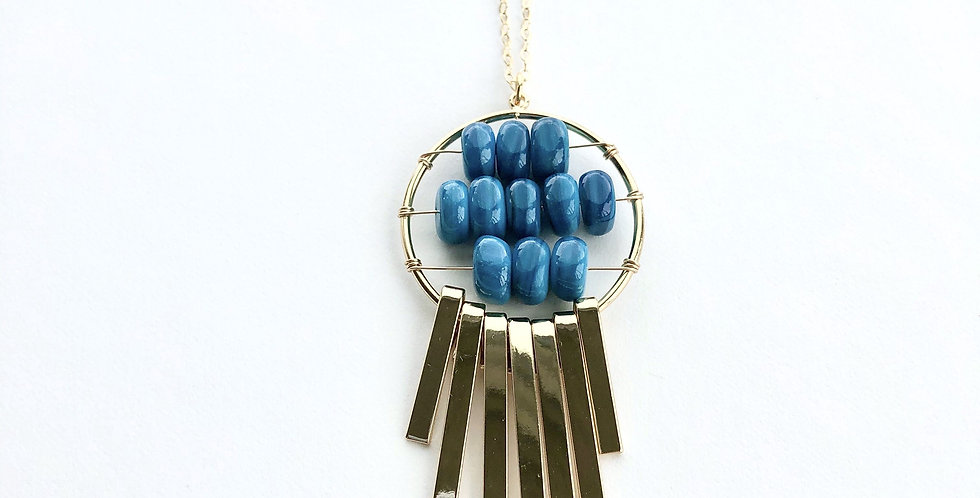 Blue Abacus Necklace