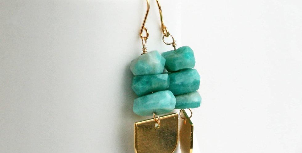 blue green gemstone earrings